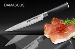 Нож кухонный стальной для нарезки Samura Damascus SD-0045/G-10