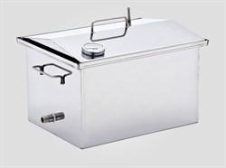 Коптильня для горячего и холодного копчения с термометром 450*250*270(1.5мм) - фото 7908