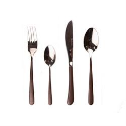 Набор столовых приборов MIRROR глянец/коричневый, 24 предмета - фото 8087