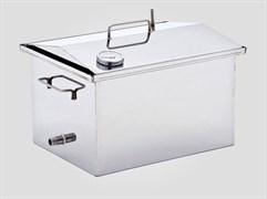 Коптильня для горячего и холодного копчения с термометром 450*250*270(1.5мм)