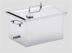 Коптильня для горячего и холодного копчения с термометром  500*300*270(1.5мм)